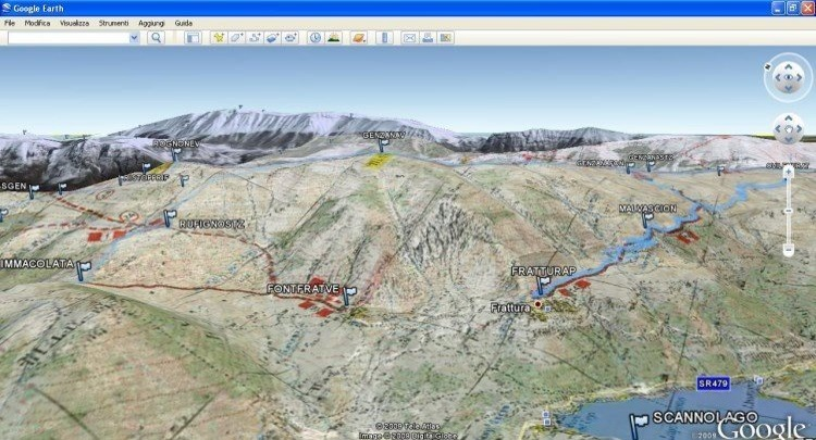 Fig. 4 - Integrazione Google Earth